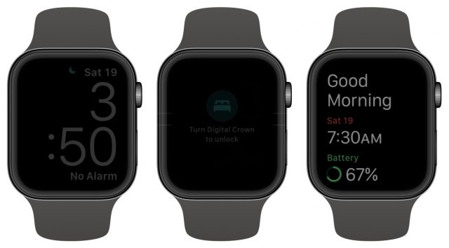 Apple Watch sleep tracking display