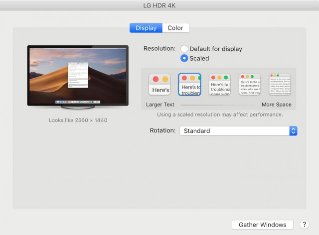 LG 27UK850-W Mac settings