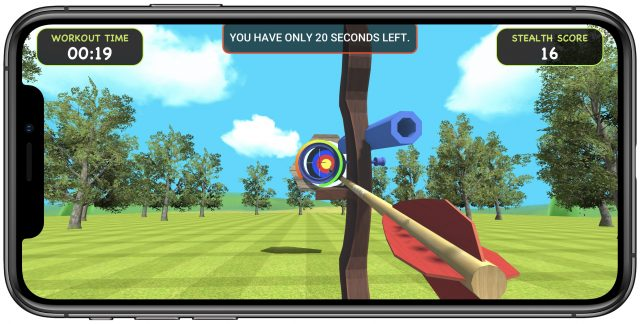 Stealth Fitness game Archery Adventure