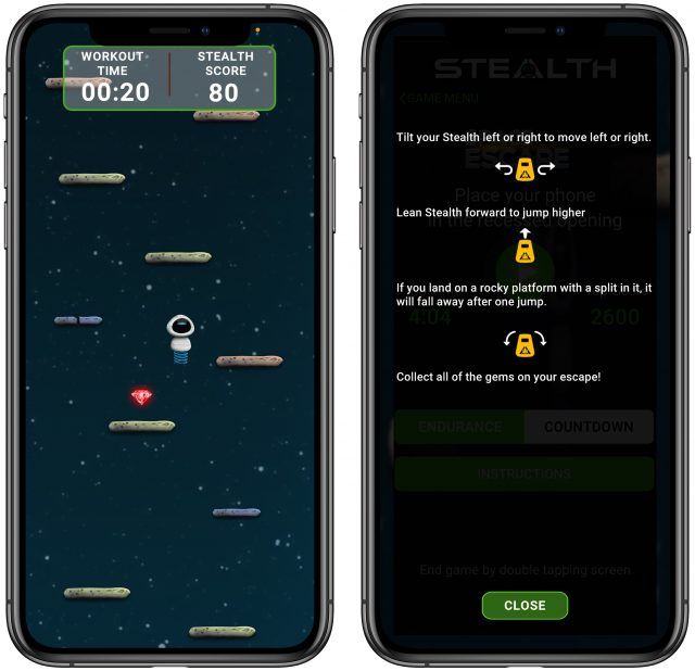 Stealth Fitness game Space Escape