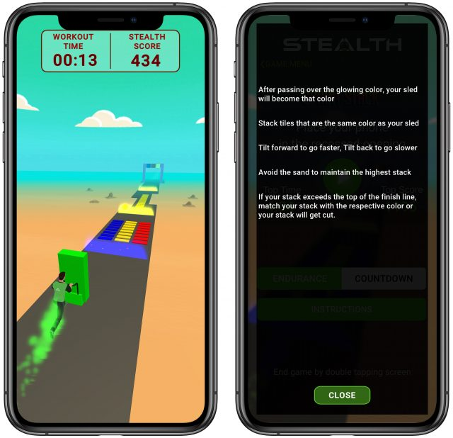 Stealth Fitness game Sprint Stick
