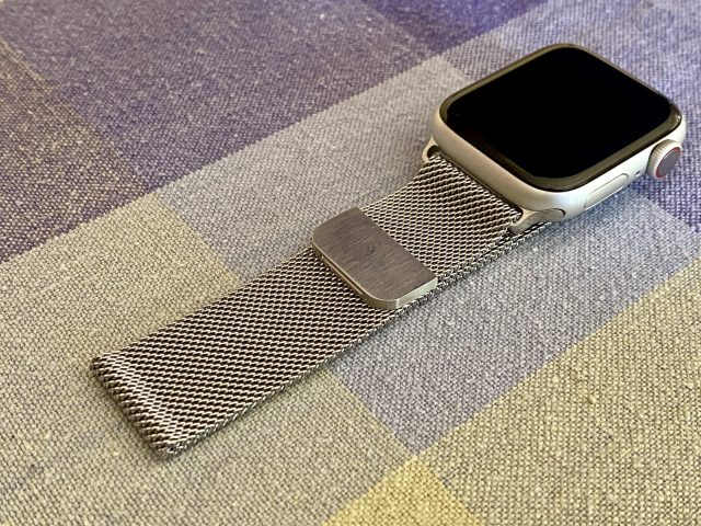 Apple Watch with faux Milanese Loop
