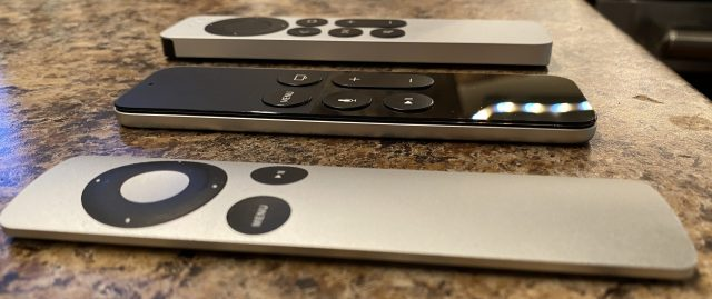Thicknesses of the Apple TV remotes