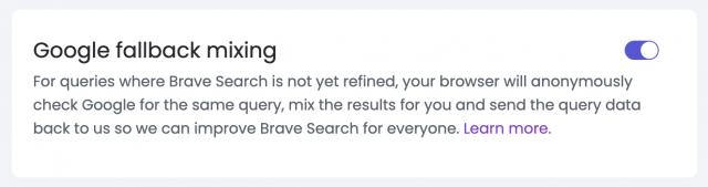 Explaining Brave Search's Google Fallback Mixing