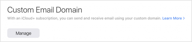 Manage custom domain