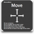 Move/Resize Windows from the Keyboard with MercuryMover
