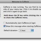 Caffeine Helps Video-Playing Macs Stay Awake