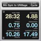 Tracking a Rainy Ride with Cyclemeter