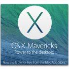 Apple Releases OS X 10.9 Mavericks for Free