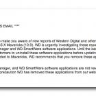 Western Digital Warns Mavericks Users of Data Loss