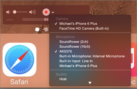 How to Capture iOS Device Video in Yosemite