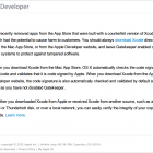 Apple Alerts Developers about Xcode Downloads
