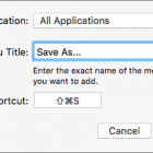Put Save As Back on the File Menu