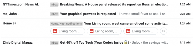Gmail attachment icons in Subject line