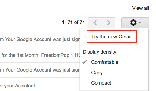 How to enable new Gmail features