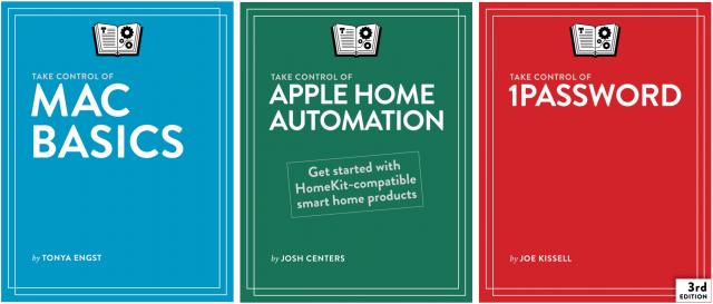 Three Take Control book covers