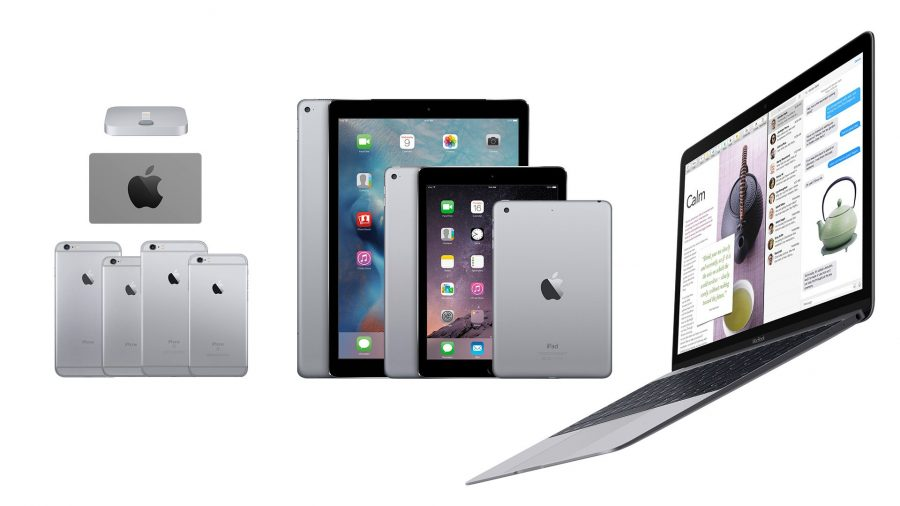 Space gray Apple products