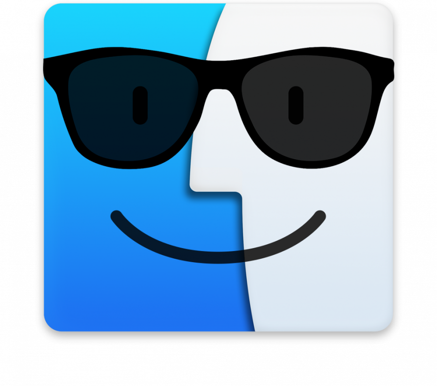 Finder icon wearing sunglasses
