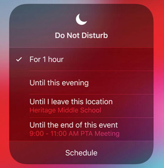 New duration settings for Do Not Disturb