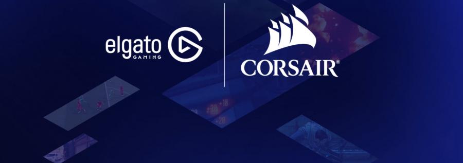 The Elgato and Corsair logos.