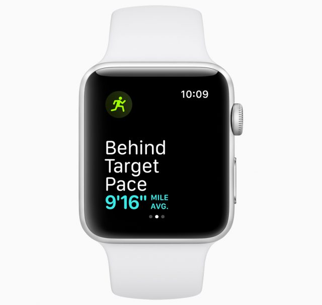 watchOS 5 pace warning