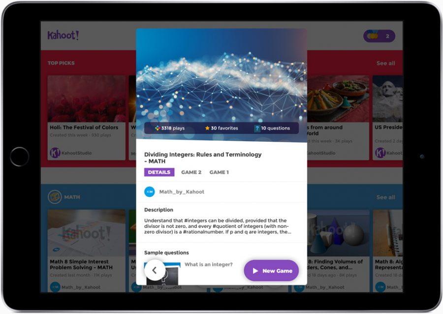 The Schoolwork app on an iPad.