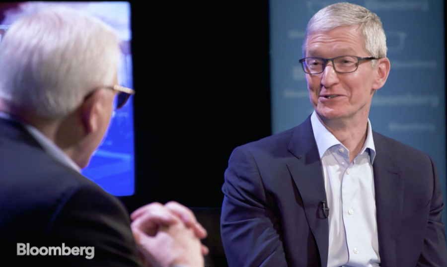 Tim Cook and David Rubenstein