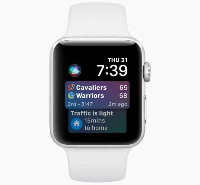 The Siri watch face in watchOS 5