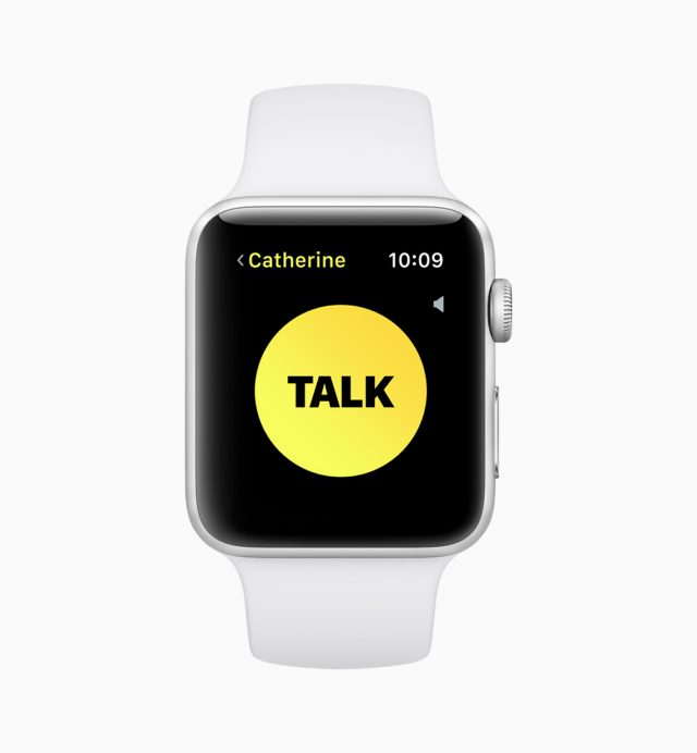The Walkie-Talkie app in watchOS 5. Yes, again.
