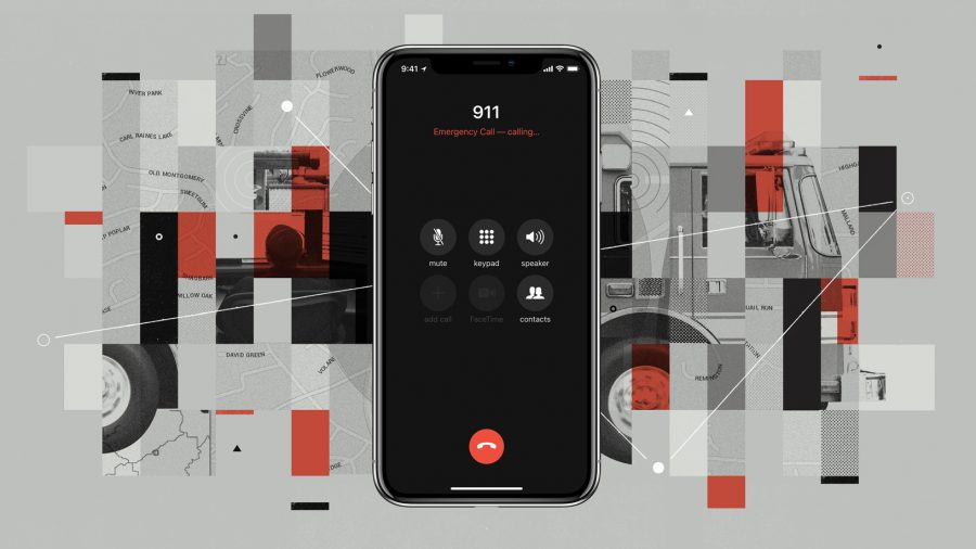 911 on an iPhone X.
