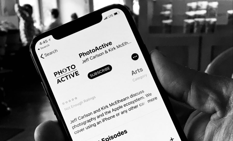 The PhotoActive podcast in the Podcasts app on an iPhone X
