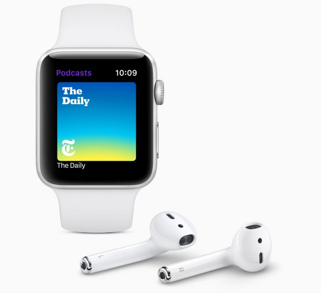 The Podcasts app on watchOS 5