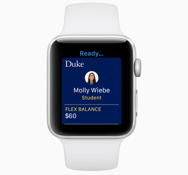 Apple Watch as a student ID