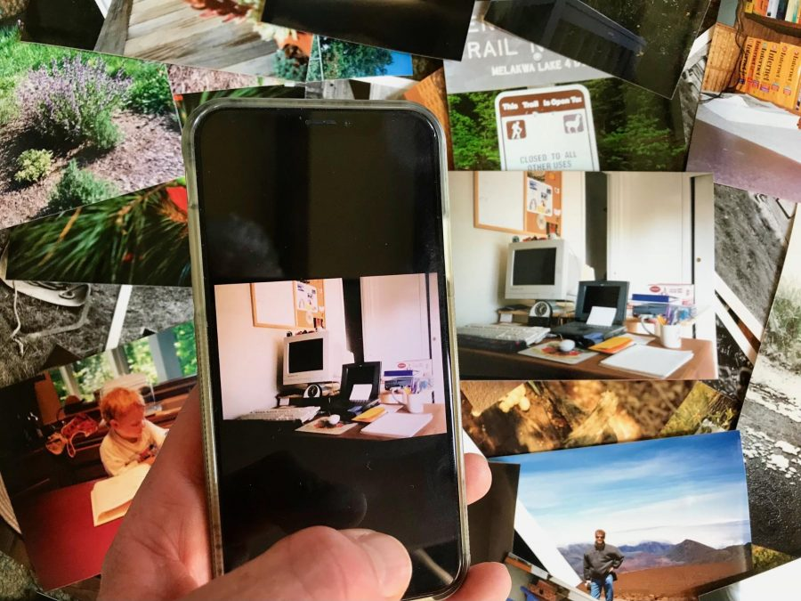 Scanning photos with an iPhone