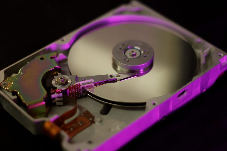 Hard disk platter photo