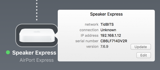 Updating the AirPort firmware in macOS.