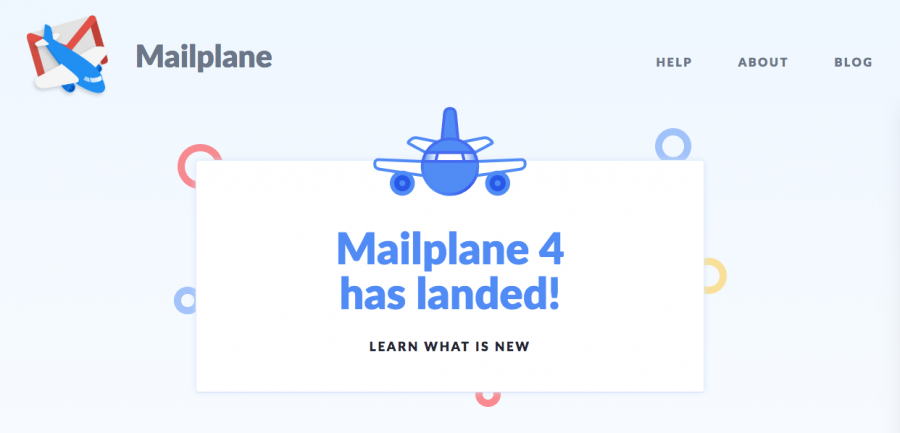 The Mailplane 4 announcement.
