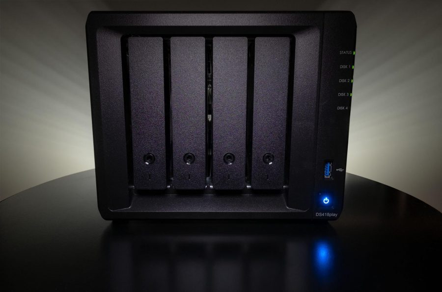 A network attached storage device.