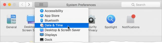 Navigating System Preferences with the Show All button.