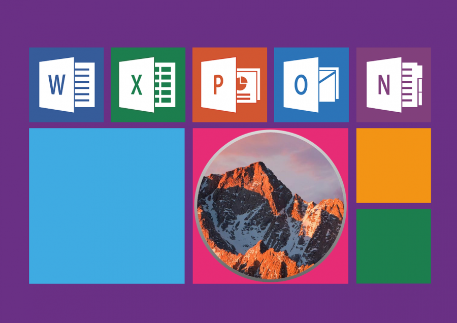 The Sierra logo juxtaposed with the MS Office logos.