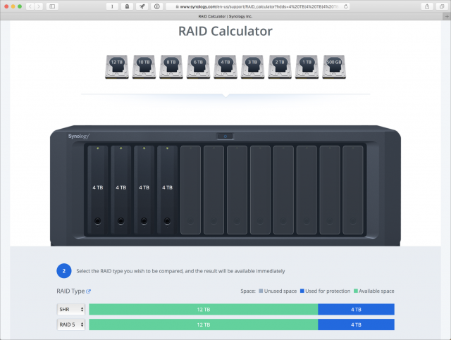 Synology's RAID Calculator.