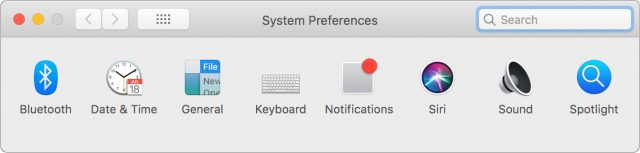 Sharon's System Preferences window, with only 8 icons.