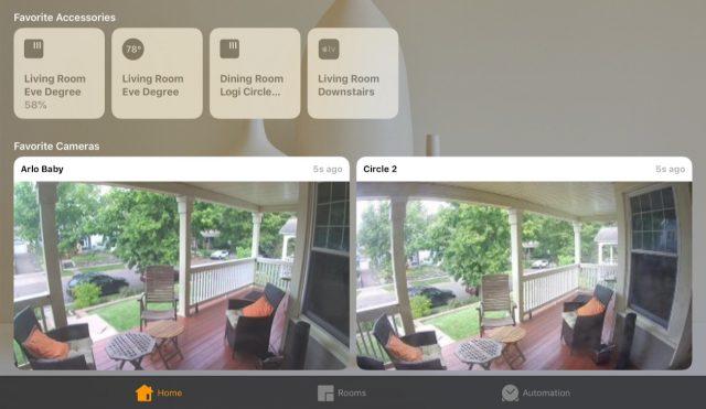 HomeKit-camera's in de app Woning.
