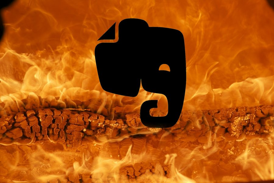 Evernote is burning.