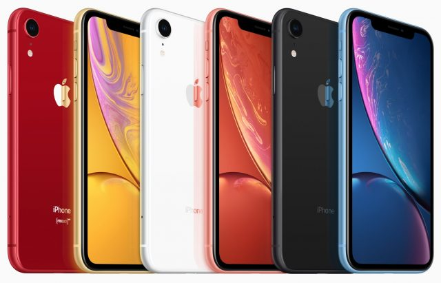 The iPhone XR's colors.