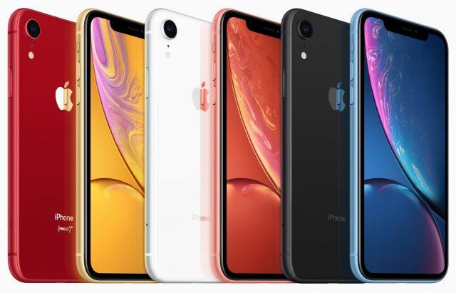 De kleuren van de iPhone XR.