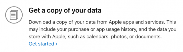 Instructions for getting a copy of your data.