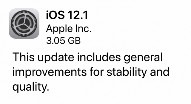 iOS 12.1 for HomePod release notes