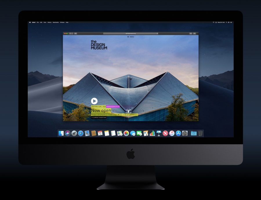 macOS Mojave's Dark mode.