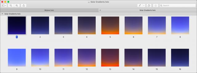 16 gradients.